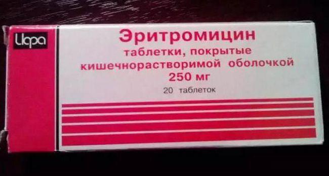 еритроміцин від прищів відгуки