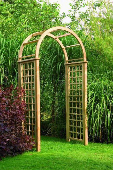 дерев'яні арки для саду