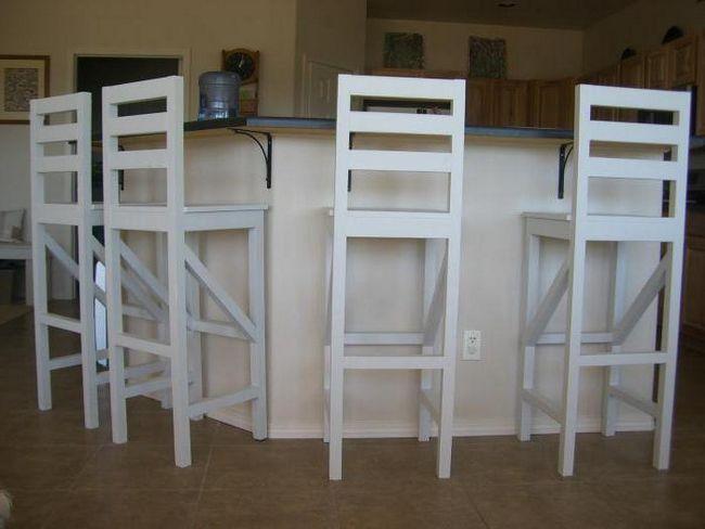 барний стілець білий