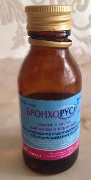 ліки бронхорус інструкція застосування відгуки