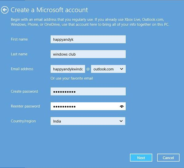 забув пароль облікового запису майкрософт