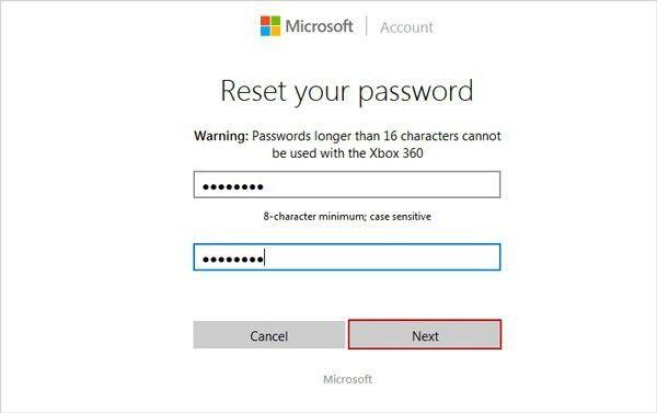 обліковий запис майкрософт забув пароль