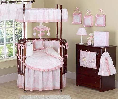 Фото - Дитяче ліжко для новонародженого кругла