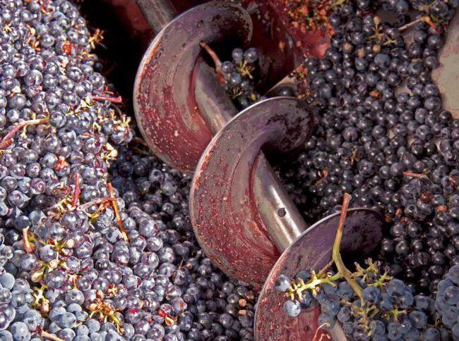 дробарка для винограду з гребневідділювачем
