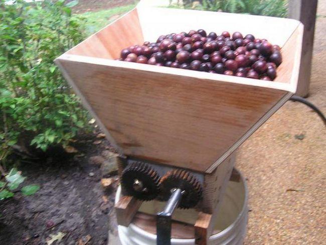 дробарка механічна для винограду