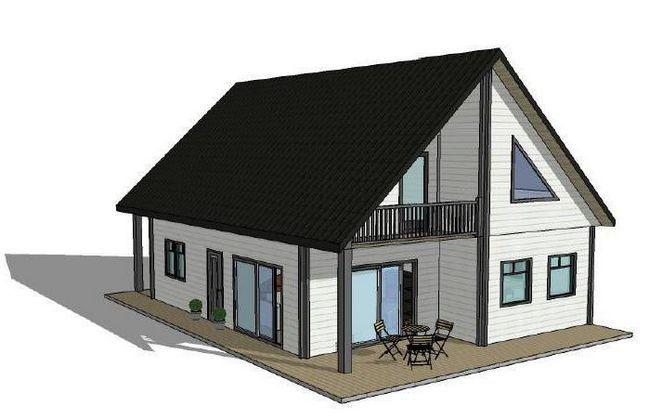 двоповерховий каркасний будинок проект