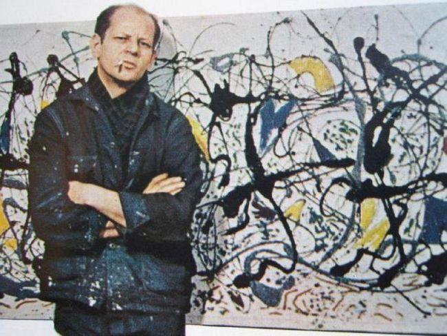 Фото - Дж. Поллок - художник, основоположник абстрактного експресіонізму