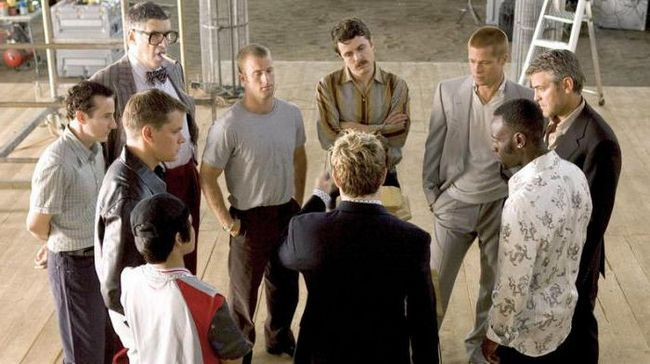 актори і ролі фільму 12 друзів Оушена.