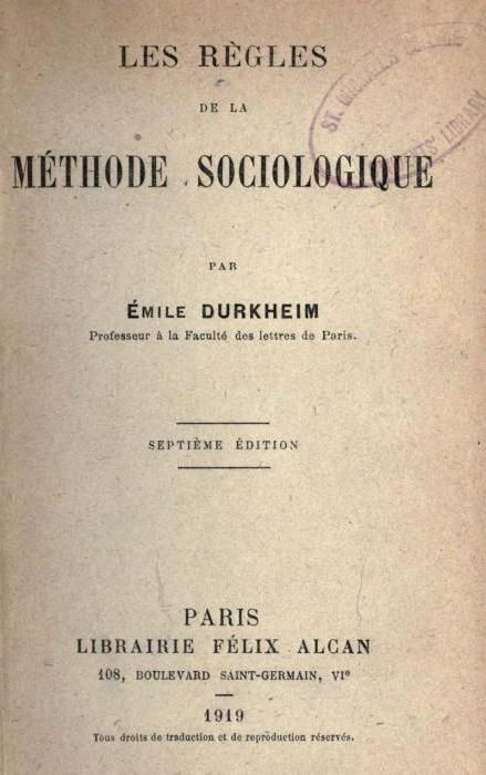 Еміль Дюркгейм основні ідеї коротко