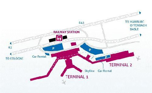 Схема аеропорту франкфурта