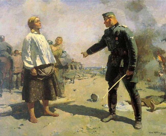 художник Сергій Герасимов в роки війни