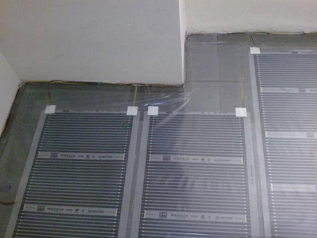 інфрачервоний плівковий тепла підлога монтаж під ламінат