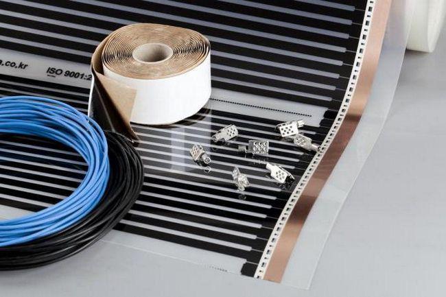 укладка інфрачервоного теплої підлоги під ламінат