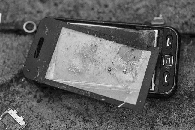 розбитий екран телефону
