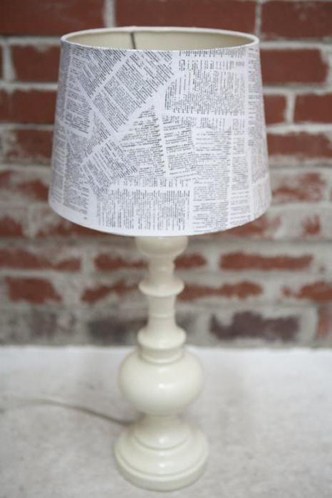 абажур для настільної лампи своїми руками