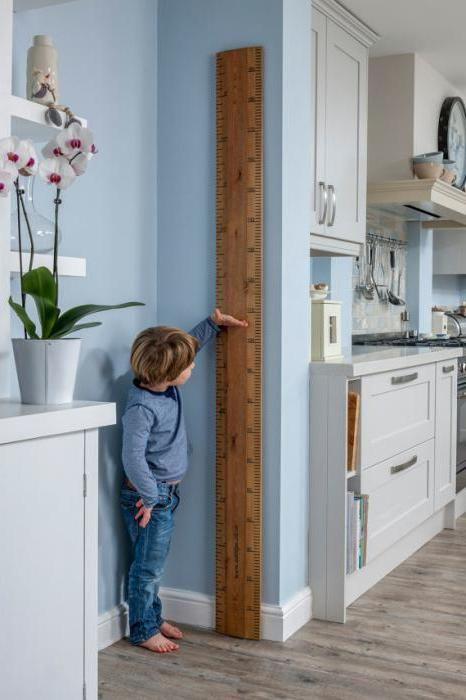 зростомір дитячий на стіну дерев'яний