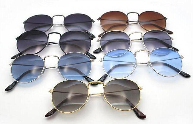 круглі сонячні окуляри фото