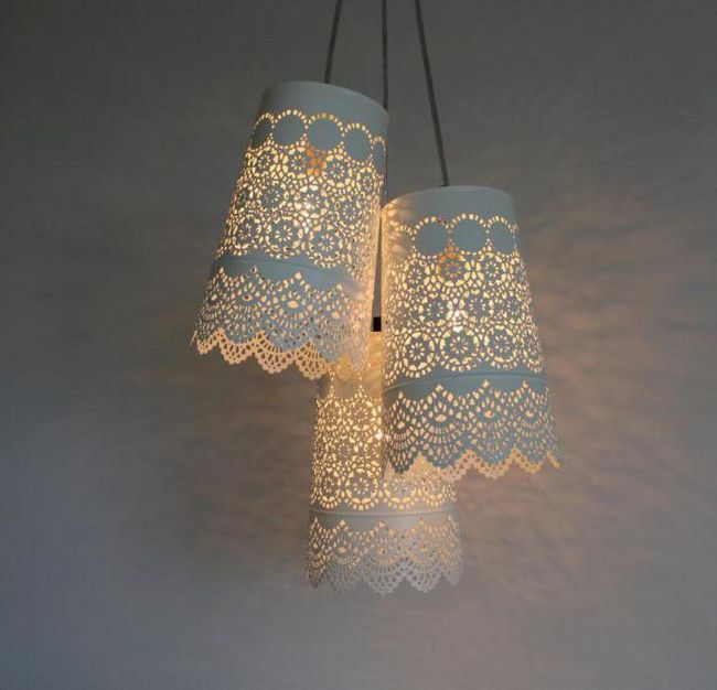 як зробити абажур для світильника своїми руками