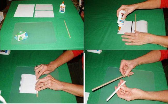 як зробити газетні трубочки