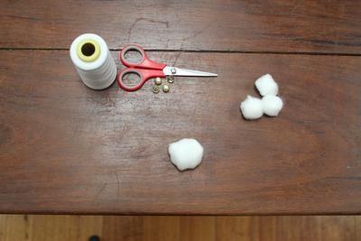 як зробити сніжки з вати