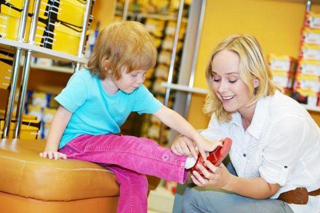 розмір взуття та одягу за віком дитини