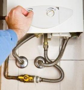 побутовий газовий водонагрівач проточного типу має