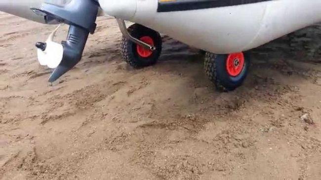 саморобні транцеві колеса для човнів пвх
