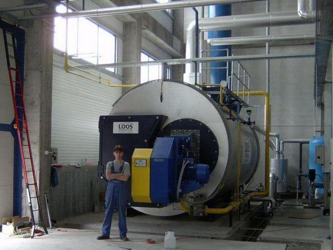 пристрій промислового газового котла