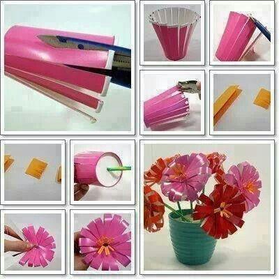 вироби з пластикових стаканчиків ідеї поради