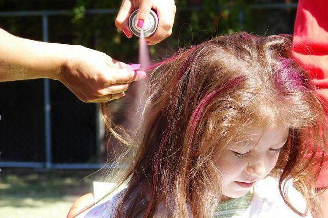 Фарба для волосся спрей