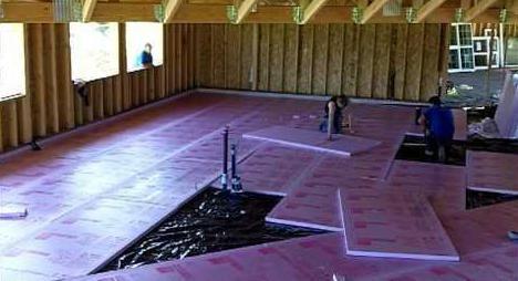 Кріплення пеноплекса до підлоги