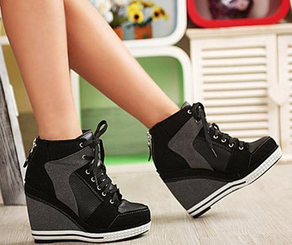 кросівки на високій підошві фото