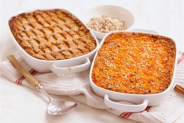 морквяно сирна запіканка в духовці з фото