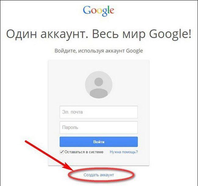 gmail реєстрація