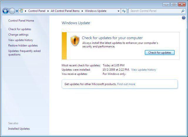 оновлення для windows 7