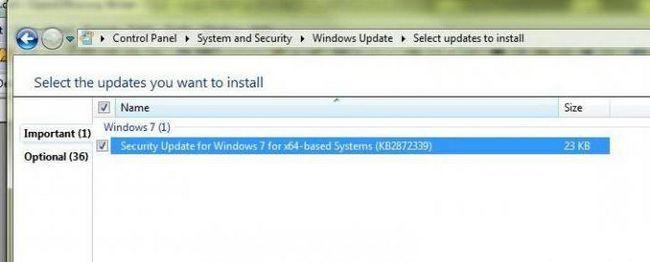 не вдалося оновлення windows