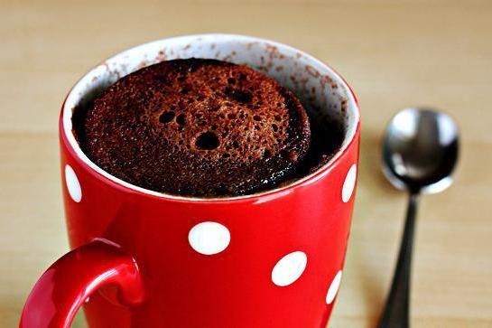 рецепт шоколадного кексу в гуртку в мікрохвильовці