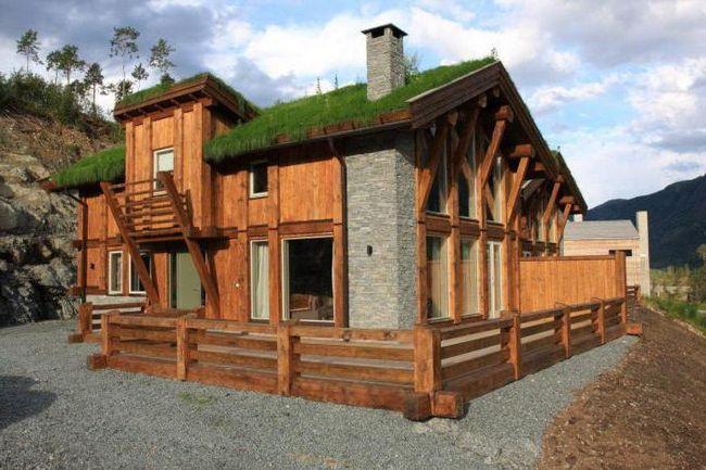норвезький будинок з вертикального бруса