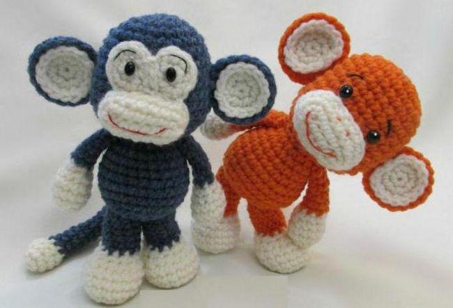 мавпочки своїми руками до нового року гачком