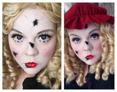 образ ляльки на хеллоуїн для дівчини фото