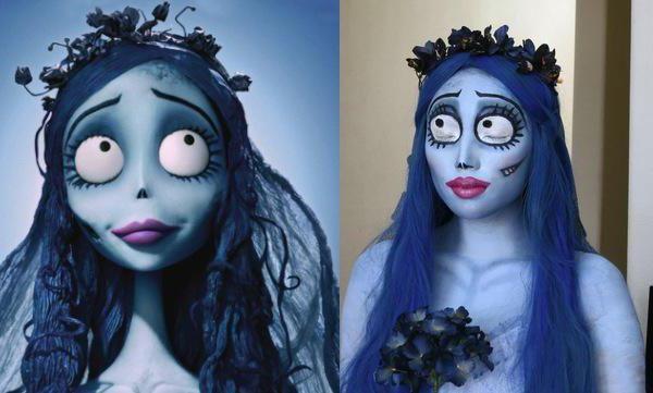 макіяж на хеллоуїн труп нареченої