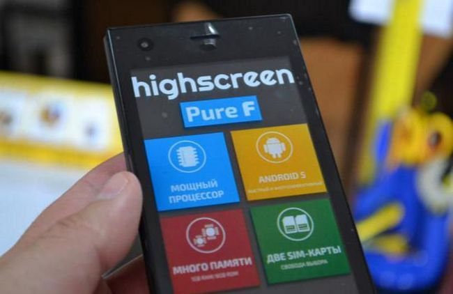 highscreen pure f blue