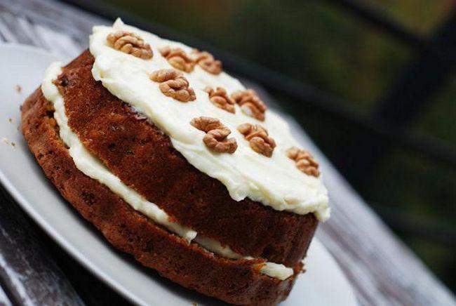 торт горіховий зі згущеним молоком фото