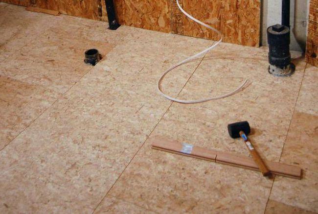 вирівнювання підлоги осб плитою