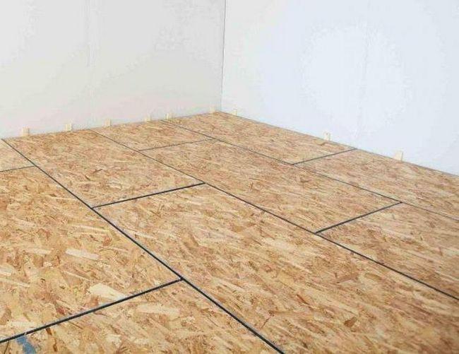 монтаж підлоги осб плитою
