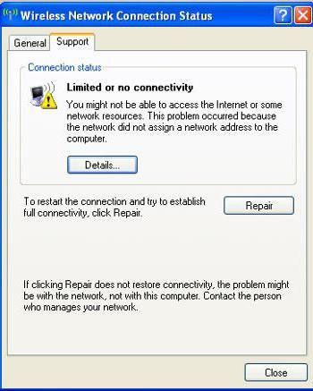 підключення обмежено або відсутній windows xp