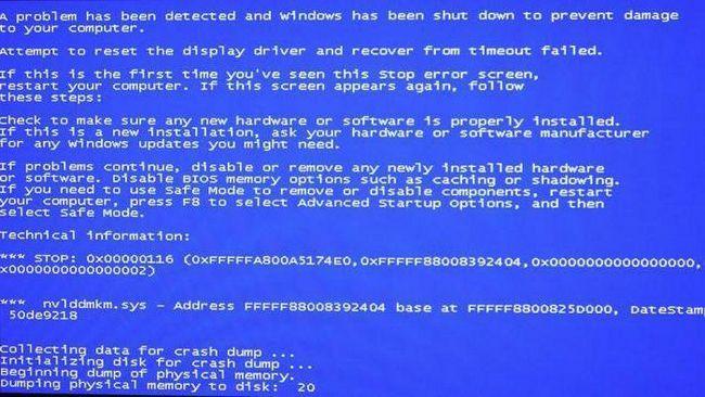 nvlddmkm.sys синій екран Windows 7