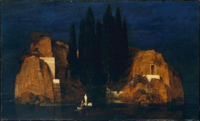 картина острів мертвих в Ермітажі