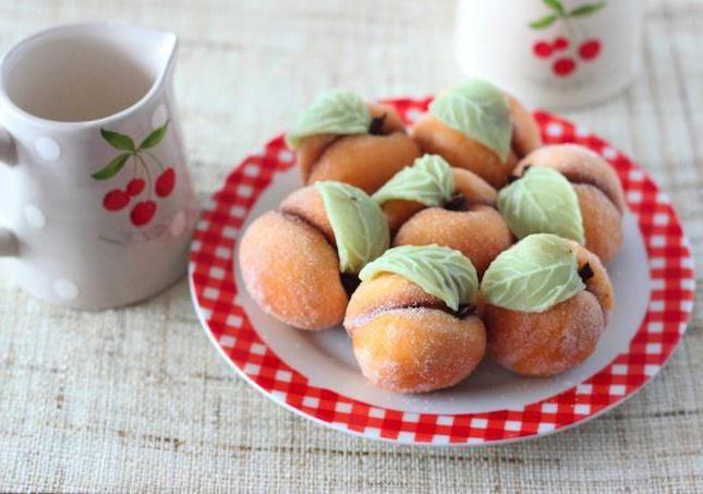 печиво персики зі згущеним молоком