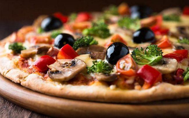 швидка піца на кефірі